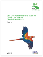 GBIF GNA Profile Reference Guide for Darwin Core Archive, Core Terms and Extensions