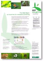 GBIF poster: The Data Paper: an incentive for metadata publishing, 2011 edition