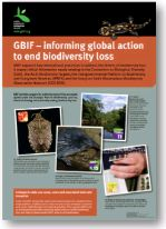 Poster: GBIF - informing global action to end biodiversity loss