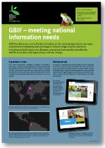 Poster: GBIF - meeting national information needs