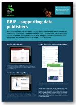 Poster: GBIF- supporting data publishers