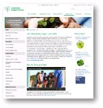 Communication, education & public awareness section in the CBD website