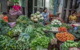 Vegetables for sale inYangon, Myanmar
