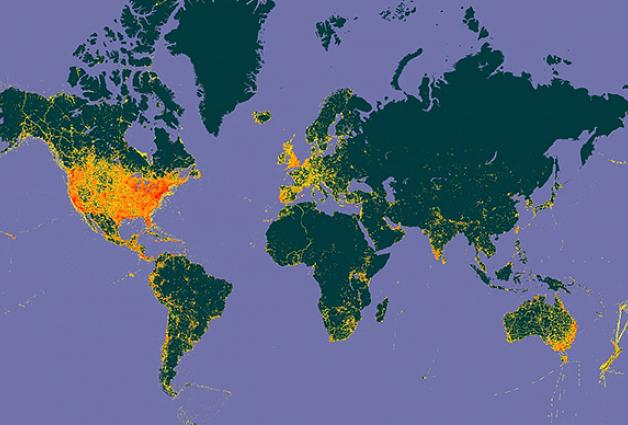 World map, eBird Observational Dataset