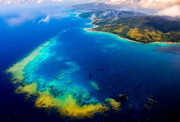 Aerial view of Kadavu Island, Fiji. Photo by Nick Hobgood.