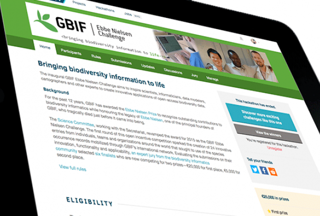 Details of the 2nd annual GBIF Ebbe Nielsen Challenge are now available
