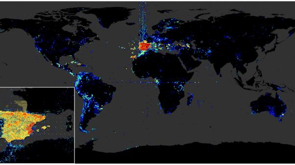 Visualization of the geospatial information offered through GBIF.ES