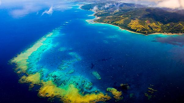Aerial view of Kadavu Island, Fiji. Photo by Nick Hobgood.